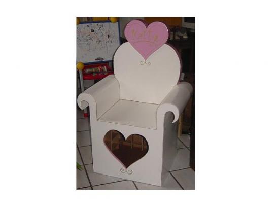 siège coeur princesse